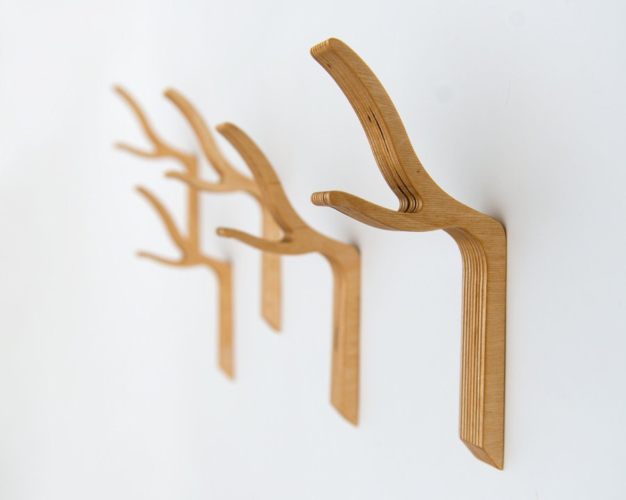 Branch Wall Hook, Twig Coat Hook, Wooden Coat Hook, Modern Twig Hook,Branch Coat Hook,Large Size,hooks and fixtures,storage and organization