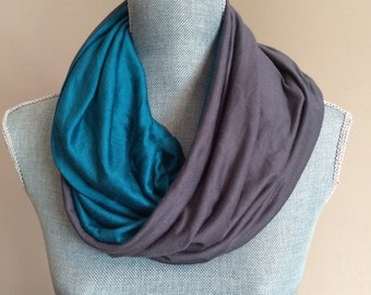 Infinity Scarf with Hidden Pocket - You Pick The Colors