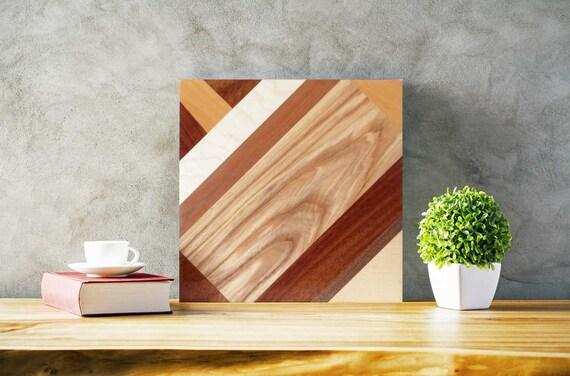 Intarsien Kunst Wohnkultur Holz Wand Kunst Rustikale | Etsy
