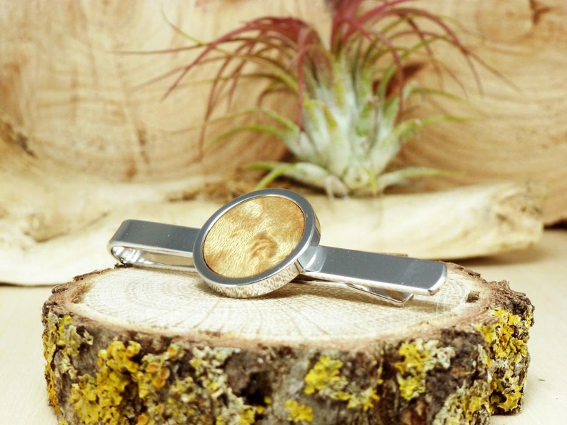 Wood tie clip suit tie accessories birthday gift office gifts for men minimalist jewelry mens tie clip gifts for men nature jewelry