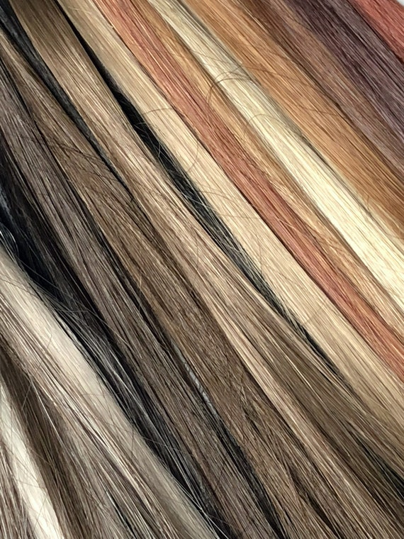 Synthetic Hair Swatches for Hairpieces, Wigs
