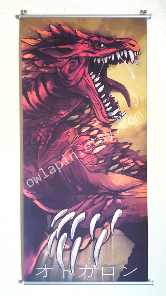 Odogaron Monster Hunter World Wall Scroll Art Print Etsy
