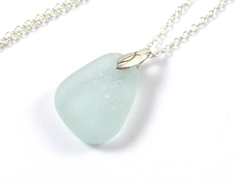 Sea Glass Necklace - Seafoam - Beach Glass Necklace - Sea Glass Jewelry - Mothers Day - The Strandline - Northumberland - CHIANA