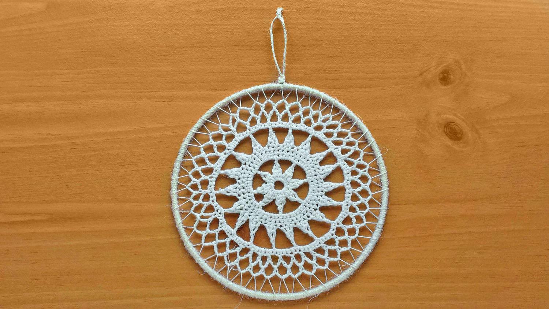 7 Inch Crochet Dream Catcher Top Crochet Mandala Medallion Etsy
