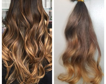 Clip in Balayage extensions full set 100%human hair