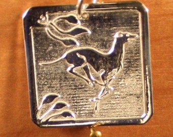 Greyhound/Whippe/t/IG 8 g Sterling Duncan Pendant