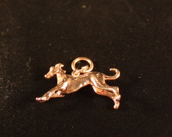Greyhound/Sighthound Sterling Silver 22K Goldplate (Yellow  Charm)
