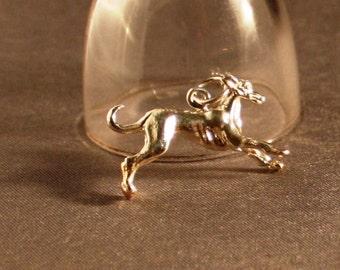Greyhound/Sighthound 4 gram Sterling Silver Charm/Pendant