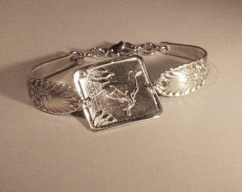 Greyhound Sterling Silver Angel Wings Bracelet Inspired by Carmon Deyo