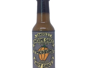 Hot Sauce - Medium - Smoked Habanero - Hand crafted in small batches - All local ingredients - Exceptionally delicious