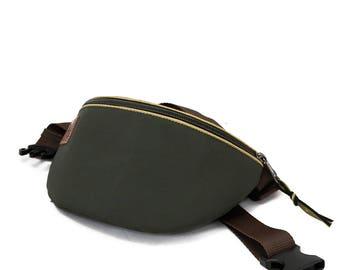 Fanny pack hip bag waist purse Plain green