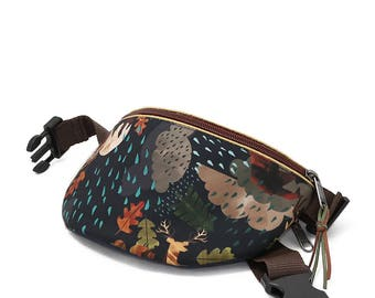 Fanny pack hip bag waist purse Bears and clouds