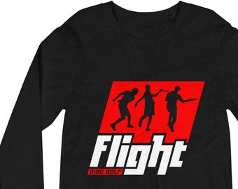 Flight DiscGolf Disc Golf Frisbee Course Unisex Long Sleeve Tee Bella Canvas Sports Outdoors Basket Chains Discus Throw