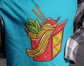 Ramen, Nom Nom, Noodles, Takeout, Take Out, Chopsticks, Order, Food, Fast Food,  Umami, Soy Sauce, Teriyaki, Short-Sleeve Unisex T-Shirt