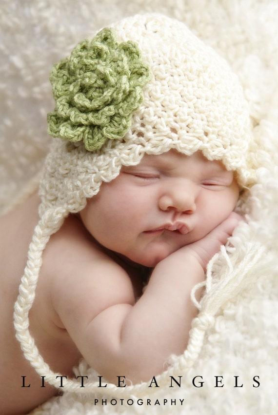 Soft Shells Baby Ear Flap Hat Crochet Pattern 428 Etsy