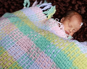Easy Perfect Plaid Baby Afghan Crochet Pattern (201)