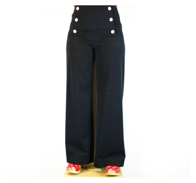 Authentic Sailor Pants Black Viscose Polyesther High waist image 0