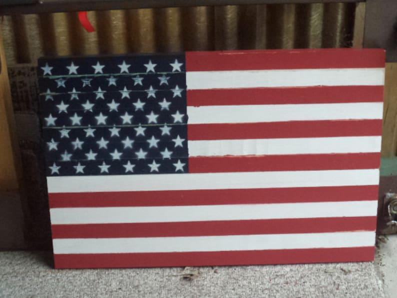 Wooden American Flag American Flag Wooden Flag Flag Rustic Flag Handmade Wooden Flag Wall Art Wall Hanging Large Wooden Flag Flag