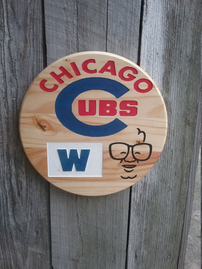 Chicago Cubs Wooden Sign