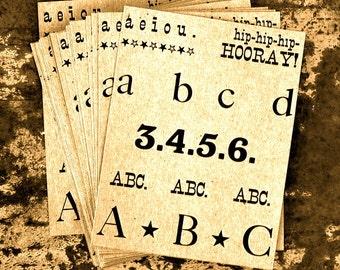 hip-hip-hip-hooray letterpress postcards on chipboard or clay board