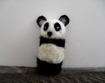 cat toy catnip Panda needle felted
