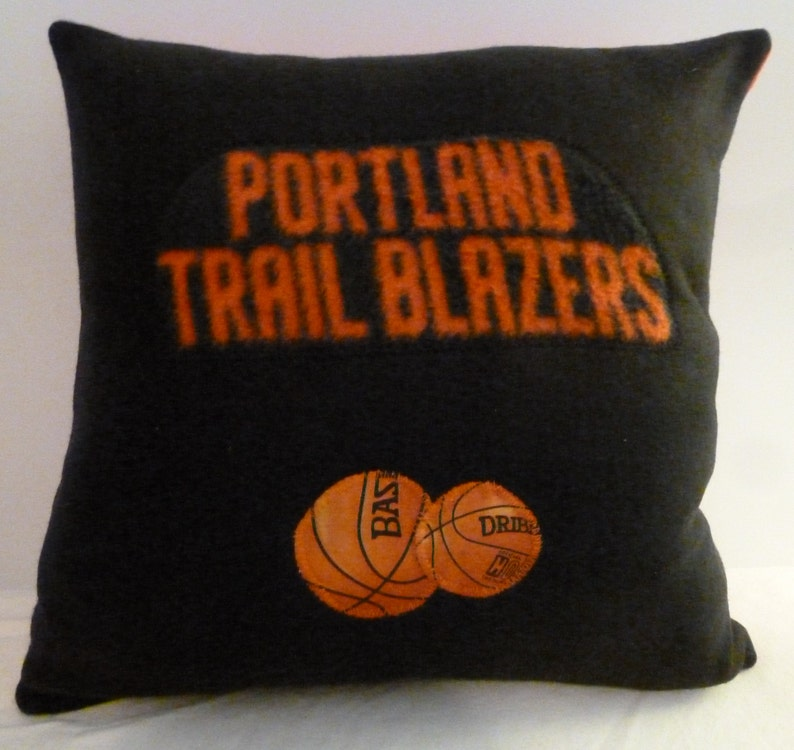Thunder Spurs 76ers Wizzards Trail Blazers Ships today Raptors BASKETBALL TEAM PILLOWS basketball fan gifts Jazz