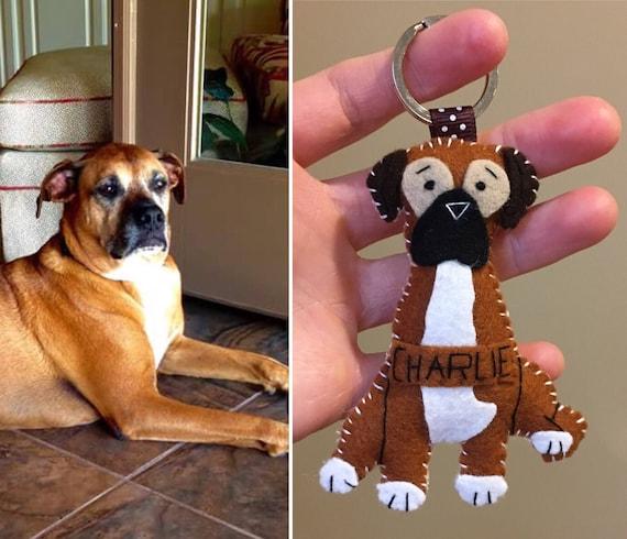 6dd658fde6f3c Custom Dog Gift, Felt Dog Ornament,Mother's Day Gift, Felt Dog Keychain ,  Personalized Gifts,Birthday Gift, Pet Gift, In Memory Pet Gift