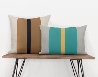 Personalized   Custom Decorative Color Block Pillow Case   12x18, 12x20, 16x16, 18x18, 20x20   Geometric Colorblock Accent Cushion Cover