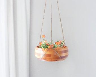 Hanging planter | Natural beige jute macrame plant hanger | Use your own plant pot holder | Indoor outdoor garden | Modern Home Decor