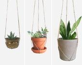 Natural beige macrame plant hanger for hanging planters Raw jute twine pot holder Indoor outdoor garden Modern Home Decor