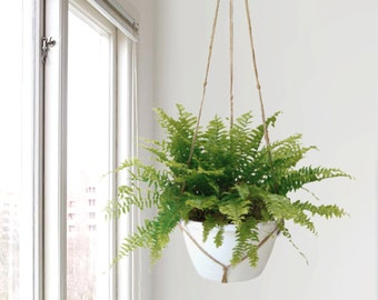 Extra large natural beige macrame plant hanger for hanging planters | Raw jute twine pot holder | Indoor outdoor garden | Modern Home Decor