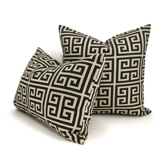 Black And Beige Geometric Pillow Cover Modern Urban Home