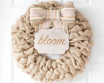Farmhouse Wreath for Spring Front Door Summer Decorations Beautiful Wreath for Summer Country Spring Decor