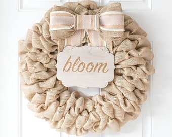 Spring Wreath for Double Doors, Baby Gift Summer Gift for Daughter, Spring Party Decorations