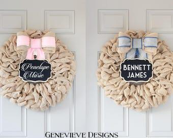 Baby Gender Reveal Party Chalkboard Wreath Package