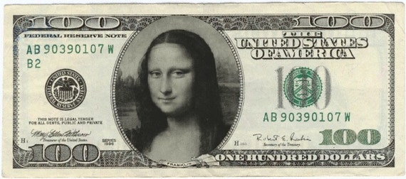 100 Personalised Funny Money Notes $100 Value Custom Made