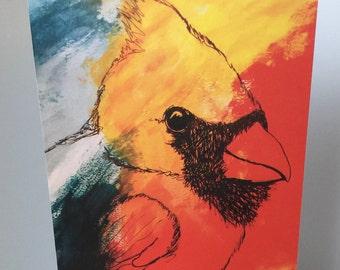 Cardinal Blank Greeting Card