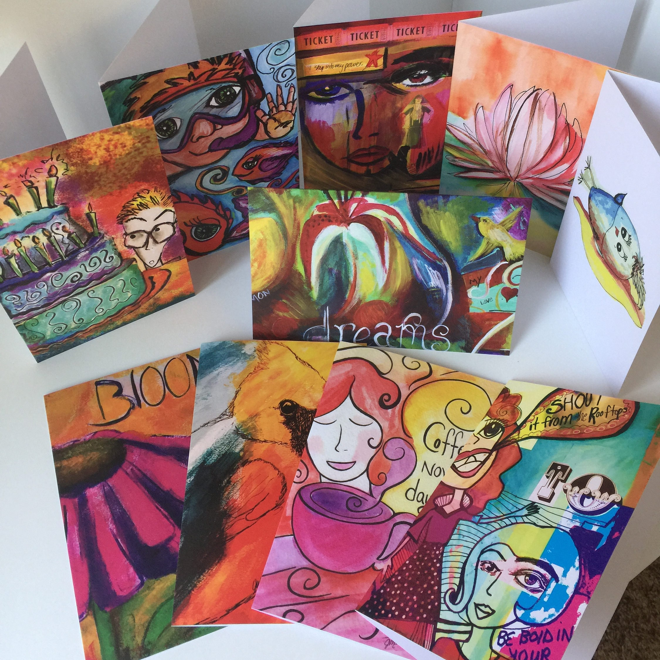 Buy 8 Get 2 Free Assorted Paperlove Creative Co Blank Greeting Cards