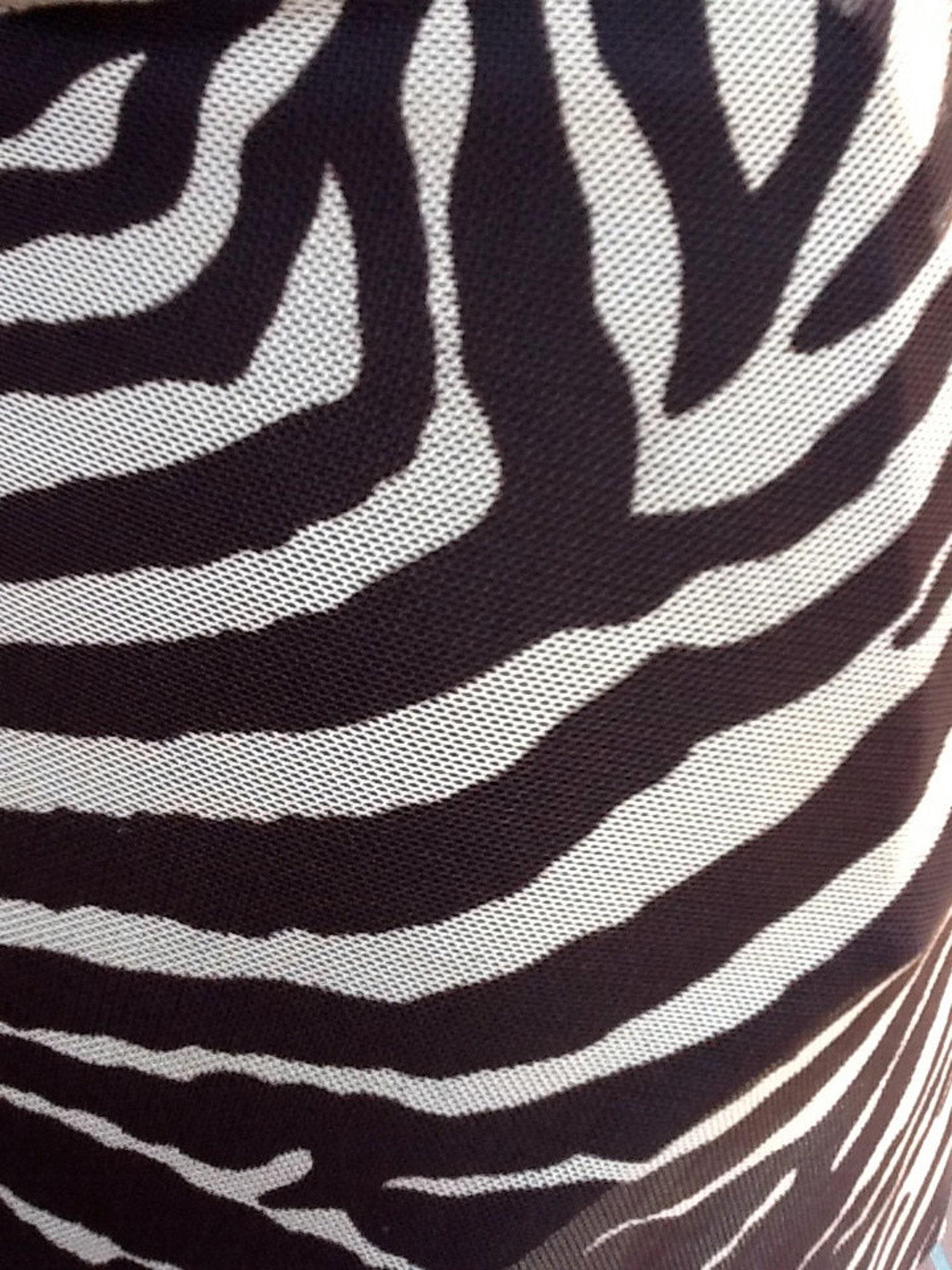 NEUE Tanz/Ballett kurz Wrap Rock in nackt und braun Zebra