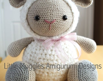Amigurumi Crochet Pattern - Cuddles the Sheep