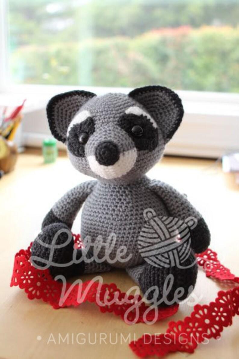 Amigurumi Croche Pattern  Bandit the Raccoon image 1