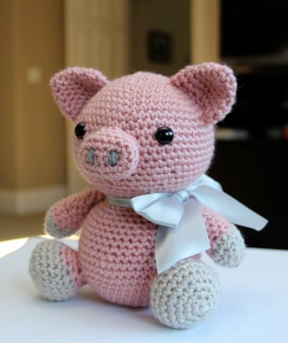 Amigurumi Crochet Pattern Hamlet the Pig