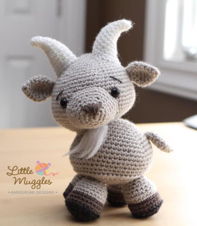 Amigurumi Crochet Pattern  Gordy the Goat image 0