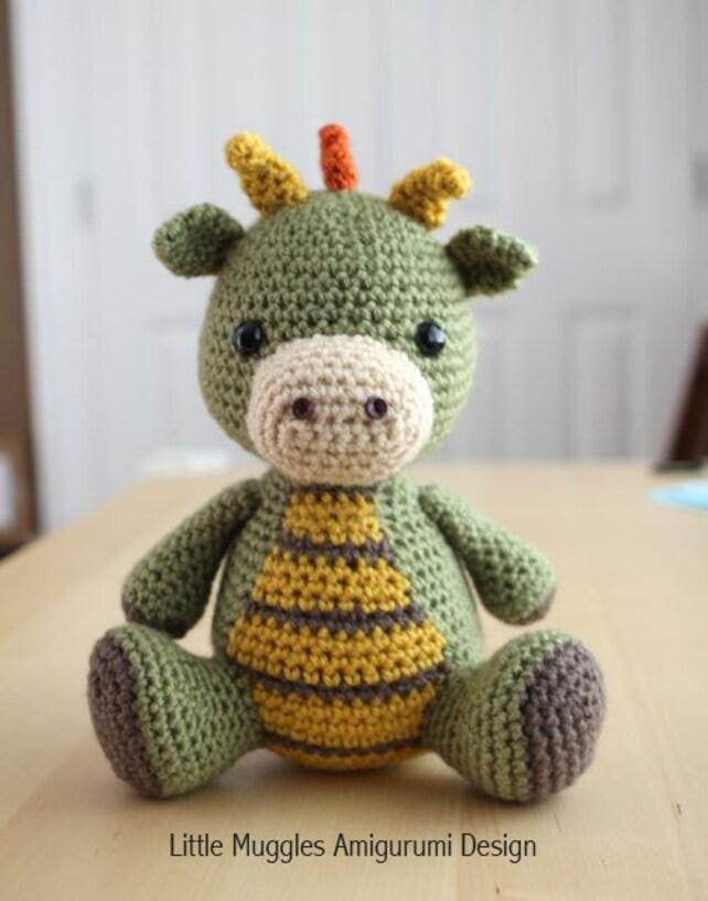 Amigurumi Crochet Pattern Spike The Dragon Etsy