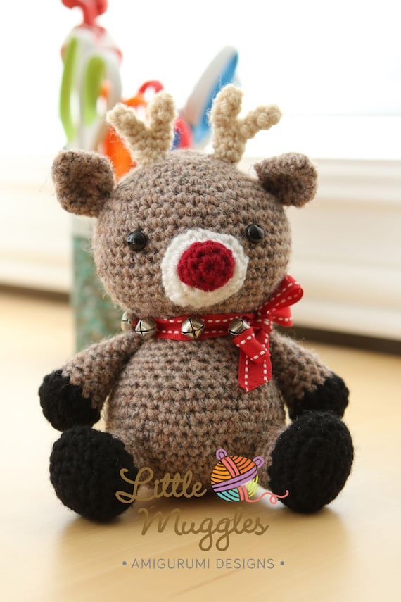 Amigurumi Crochet Pattern Jingles the Reindeer   Etsy