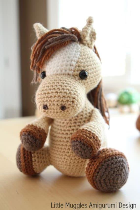 Amigurumi Crochet Pattern Lucky The Horse Etsy