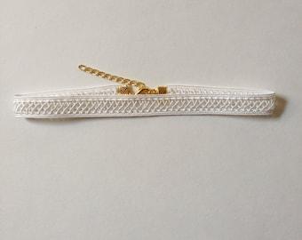 Ivory Lace Trim Choker