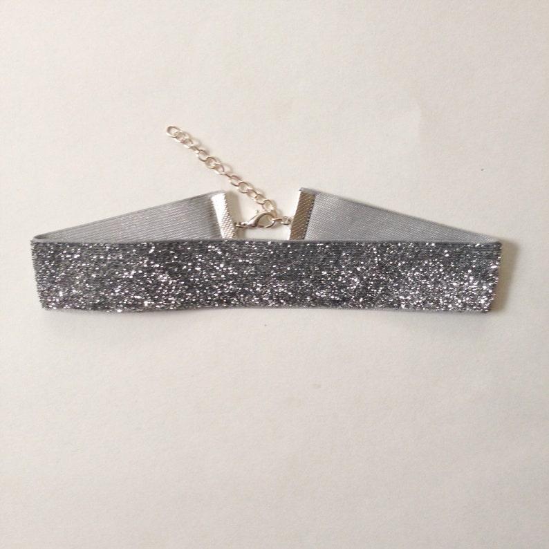 3de3380be8e84 Silver Glitter Choker