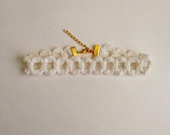 Ivory Chain Trim Choker