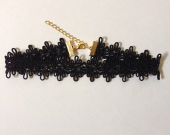 Black Lace Trim Choker